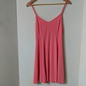 Hollister coral skater dress, size M